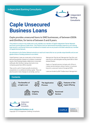 Caple Unsecured Business Loans Independent Banking Consultants
